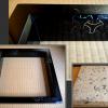 茶道具 真塗 炉縁 青貝 駒繋ぎ 美品 k-181