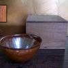 茶道具 金結晶天目茶碗 加藤藤山造 覆輪なし t-1161