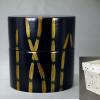 茶道具 二二高中次 木賊文 木製本漆塗 秋の文様 状態良美品 k-197