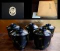 平安象彦 箸洗椀 五客 天然木 状態良好美品 茶道具 k-201