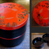 平安象彦 二段丸重 秋草の図 弁当箱サイズ 超美品 k-202