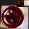 紅葉の菓子盆 木地本漆塗 紅葉の季節にぴったり k-204
