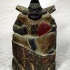 時代 木彫 恵比寿様 H22.5cm 縁起物 金彩 s-577