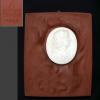 マイセン生みの親 ヨハン・フリードリッヒ・ベトガー 肖像 レリーフ 陶板 t-1217