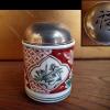 古伊万里 色絵 小ぶりな香呂 火屋に「福」の透かし文字 t-1227
