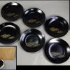 京漆器 岡本漆専堂 菓子皿6客 青海波 木製天然木 茶道具 k-217