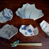 初期伊万里 陶片 珍しい大皿のもの等5点 t-1246