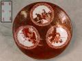平戸焼 卵殻手 六歌仙文 小皿 エッグシェル 福本造 t-1266
