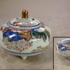 有田焼 其泉窯 小ぶりな香呂 華やかな桜と紅葉の雲錦手 t-1299