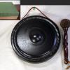 唐銅 銅鑼 ドラ バイ付き 茶道具 鳴物 s-606