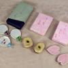 京焼 清水焼 江泉他箸置ペア3種    桜・そら豆・団扇 春から夏 t-1348