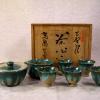 上野焼 煎茶器揃 高鶴本窯 共箱入 急須・茶碗・冷まし t-1358