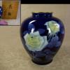 深川製磁 薔薇文 花瓶 H20cm   宮内庁御用達 t-1372