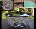 茶道具 ガラス切子 水指 無傷完品 美品 g-155
