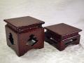 煎茶道具 小笠原流 角台2点 籃胎漆器 三階菱文透かし k-241