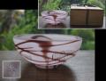 茶道具 硝子 抹茶茶碗 田淵香石 淡いパープル金彩 g-157