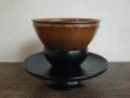 茶道具 瀬戸 泉窯 加藤藤山作 天目茶碗と天目台のセット t-1430