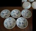 くらわんか膾皿5客 紅葉と源氏香 秋の風情 t-1466