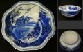 伊万里焼 輪花形   小ぶりな鉢 四君子文 t-1471