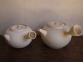 煎茶道具 白泥 ボウフラ 湯沸かし 横手 未使用品と中古品の2点 s-623
