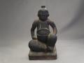 時代 木彫 古い人形 恵比須様か 木味良く小ぶり s-627