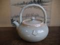 煎茶道具 上手 湯沸かし 湯瓶 ボウフラ 小笠原流 三階菱 萩焼 t-1517