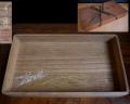硯蓋 菓子器 口取り 桐材 縁起の良い金波と水しぶき 共箱在銘 k-285