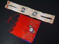 古布 縮緬細工 赤ちり白ちりに可愛い手刺繍 雛祭り 雛飾り 雛人形 n-74
