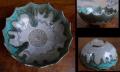 上野焼 菓子器 シャープな造形と釉薬の変化 高取華山 遠州七窯 t-1541