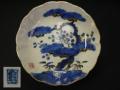 染錦 膾皿1客 松竹梅文 肥前 亀の銘 亀山か t-1544