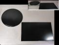 茶道具 花入れ用敷板 薄板 真塗 角矢筈板と丸蛤板 2点 美品 k-294