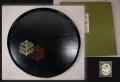 平安象彦 九代西村彦兵衛 丸盆 若松文 径31.8cm   木製 美品 k-304