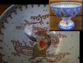 伊万里焼 色絵 盃洗 瓔珞文に猩々(しょうじょう)の目出た文様 t-1565