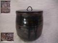 茶道具 水指 瀬戸焼 加藤作助 力強く風雅な古瀬戸の景色 t-1564
