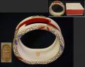 茶道具 京焼 扇立て 清閑寺窯造 色絵七宝文 華やかな吉祥文 t-1582
