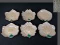 京焼 渓峰作 可愛い図変わり豆皿6客 桜・椿・梅・桔梗・朝顔 t-1599