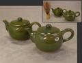 煎茶道具 横手急須一双 未使用長期保管品 上野焼 t-1628