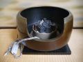 唐銅面取風炉 創巧野々田 電熱器付 敷瓦 敷板一式 茶道具  s-653