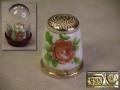 シンブル 指ぬき 薔薇 銀製925 ドイツ指ぬき博物館ケース入り Fingerhut Museum s-655