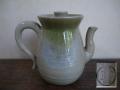 煎茶道具 水注 宮島焼 山根興哉造 淡いブルーとグリーンの釉薬 t-1665