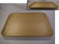 煎茶道具 桐 刳貫き 長方盆 脚付 丸い隅切り 優美なライン k-330