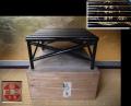 黒漆 花台 三越製 長松軒華甲寿 櫓のように組んだ繊細な造り k-331