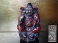 瑞陶園 恵比須様 鯛を手に福々しい笑顔 縁起物 時代 九谷焼 s-660