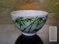 茶道具 清水焼 笹文 抹茶茶碗 京焼 t-1681