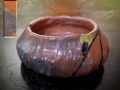 茶道具 小ぶりな灰器か 口径11cm 可愛いホタル文 在銘 t-1688