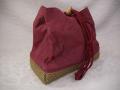 女性浴衣 巾着提げ袋 未使用デッドストック 麻製 y710-6
