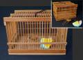 時代 竹細工 ミニチュア 虫籠と西瓜を食む虫  s-663