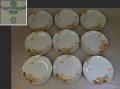 オールド東洋陶器 TOYOTOKI KOKURA JAPAN ケーキ皿9枚OCWマーク 1917年~可愛い小菊の文様 t-1736