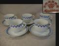名古屋製陶(MEITO) 名陶硬質陶器  カップ&ソーサー オールド名陶 大正~昭和初 t-1738