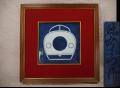 源右衛門 陶額 新幹線0系電車 ひかり号 昭和50年度 門司鉄道管理局長 効績章表彰記念 y-1123